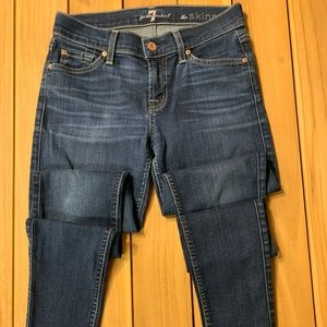 7 For All Mankind The Skinny Jeans Size 26